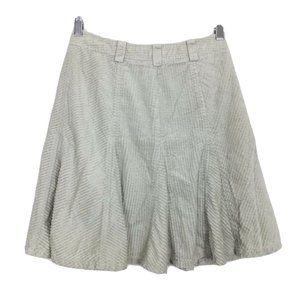 Armani Exchange Taupe Gray Mini Corduroy Skirt P0